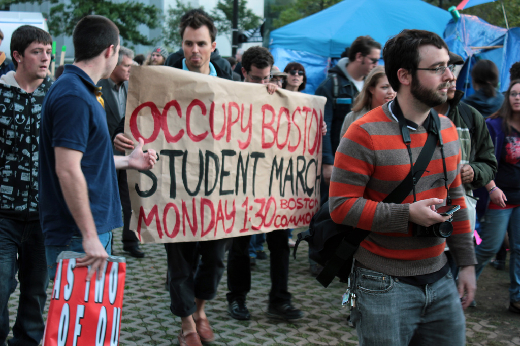Occupy Boston to March with Unions, Students