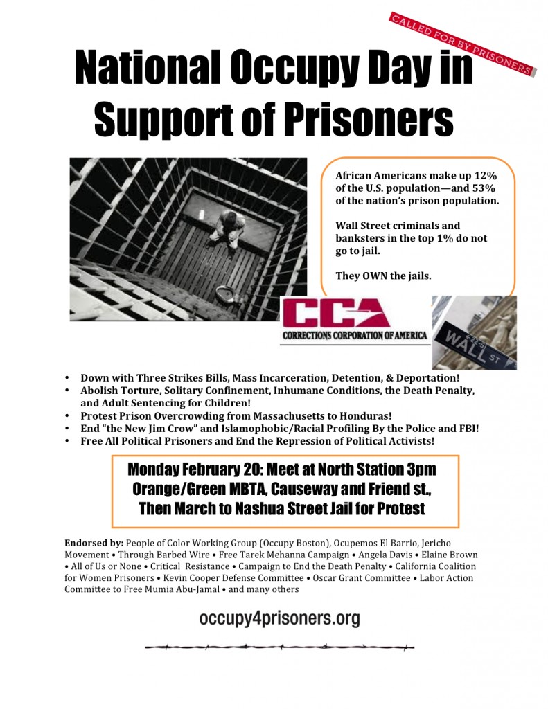 National Occupy Day in Support of Prisoners 791x1024 Monday Feb 20: National Occupy Day for Prisoners