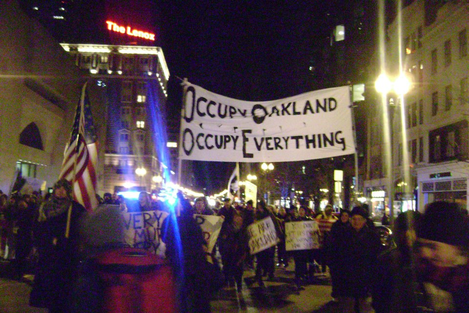OO4 Occupy Boston marches in Solidarity with Occupy Oakland
