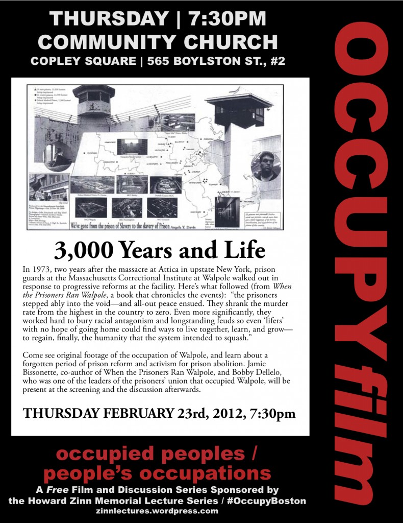 OccupyFilm 3000yearsandlife 790x1024 Occupy Film Series Starts Next Week
