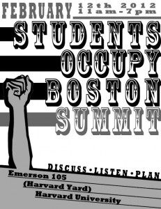 ob student summit1 231x300 This Sunday: The Occupy Boston Student Summit