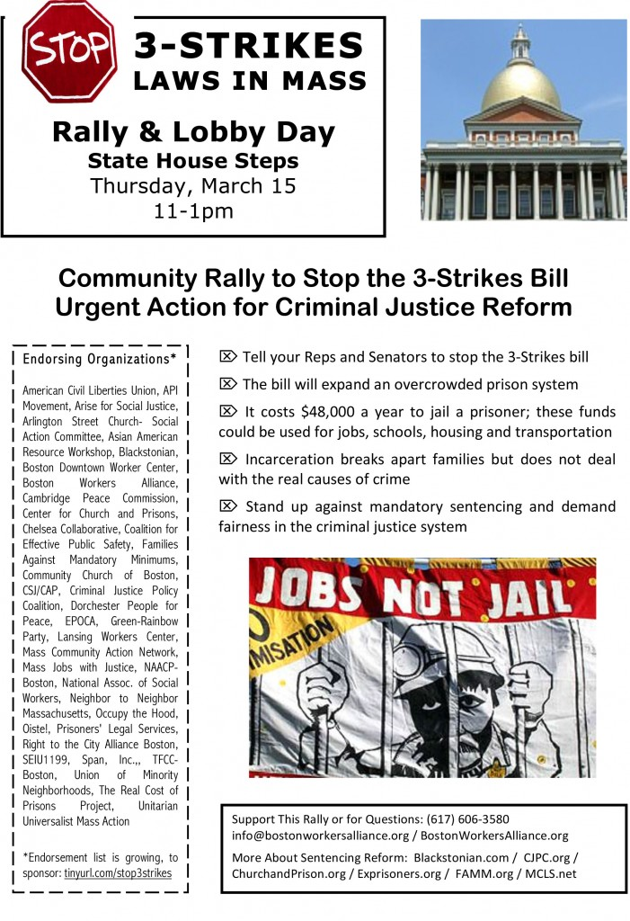 Stop 3 Strikes Flyer 3 15 121 1 701x1024 Rally to Stop 3 Strikes Laws in Massachusetts!