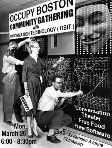 OBIT Community Gathering March 26th, 6-9pm 33 Harrison Ave.