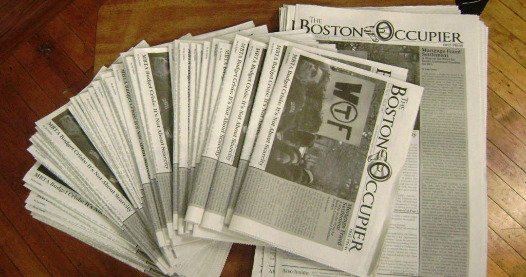 coverimage1 1024x540 New issue of Boston Occupier out Wednesday!!!