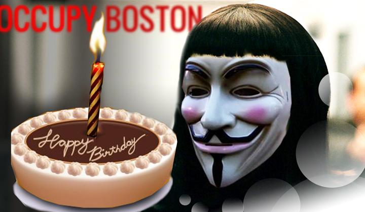 Happy Birthday Occupy Boston