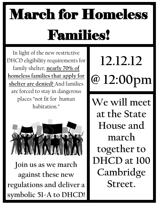 march for homeless March for Homeless Families