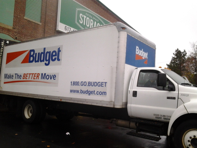 Truck taking relief supplies to hurricane Sandy victims