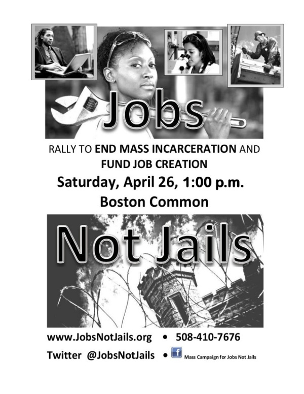 jobs not jails flyer Jobs not Jails Rally   April 26th, 1pm