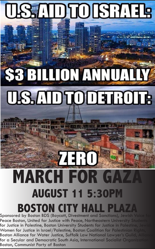 march for gaza Monday: March for Gaza! End the Israeli Siege, No more US Tax   Dollars, Boycott, March on HP