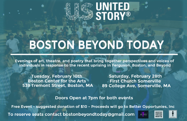 Boston Beyond Today (Anti-racist docu-art events 2/10 and 2/28)