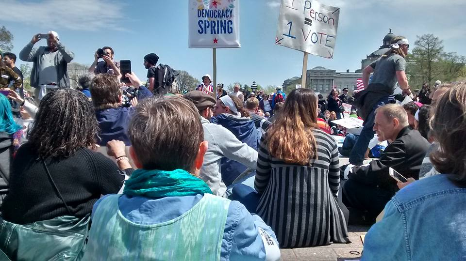 Crowd shot from Democracy Spring