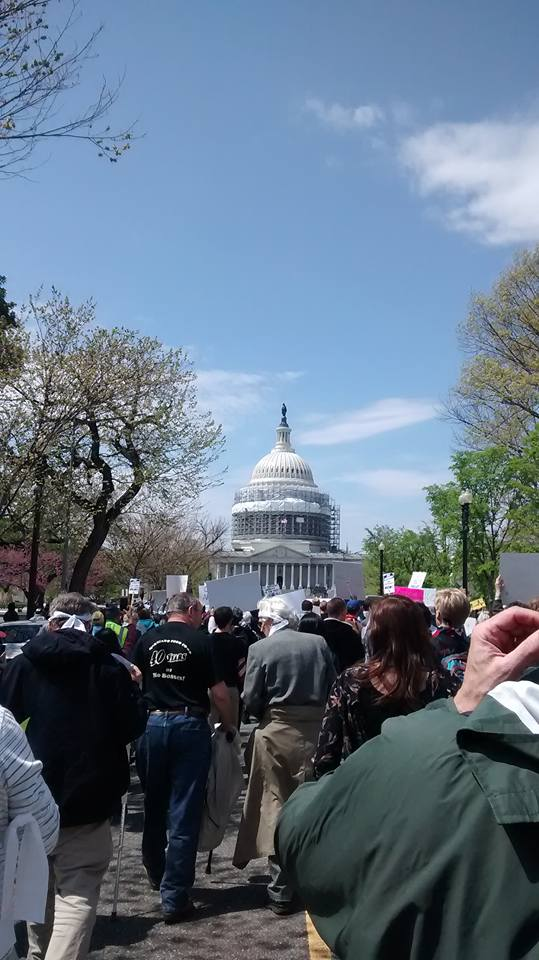 Thousands march during Democracy Spring