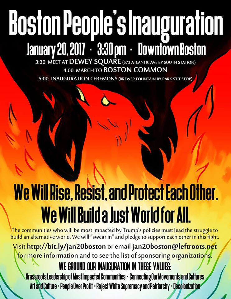 Boston's Peoples Inauguration flyer