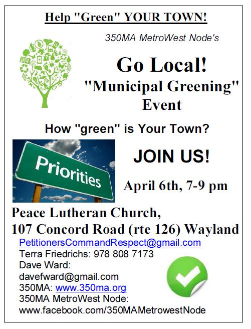 Go Local - Municipal Greening Flyer