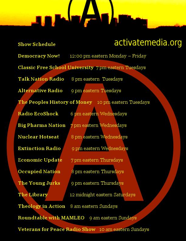 Activate Media: Activate Radio Schedule activatemedia.org